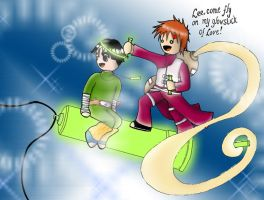Gaara and Lee ON a glowstick by Sassgardian