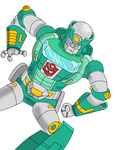 Kup Action Pose With Shading Experimentation by TealSpace