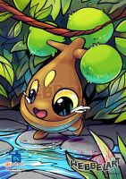 Bonsly pokemon fanart by tikopets