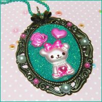 Beary Cute Cameo Necklac by bapity88