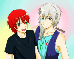Mitsuo and Hide by Thehairbrusher by TiFFhAnY