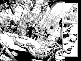 Forever Evil Double Page spread Crime Syndicate by Blasterkid