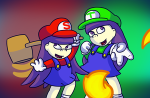 Mario twins by SuperKoopaTroopa