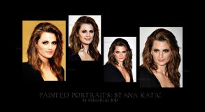 Painted Portraits: Stana Katic by GhostLinz