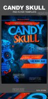 Candy Skull Grunge Flyer Template by ImperialFlyers