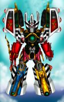 Ultimate Thunder Megazord (sentai guardian) by blueliberty