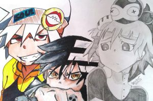 Soul Eater Boys by DeadGotashi
