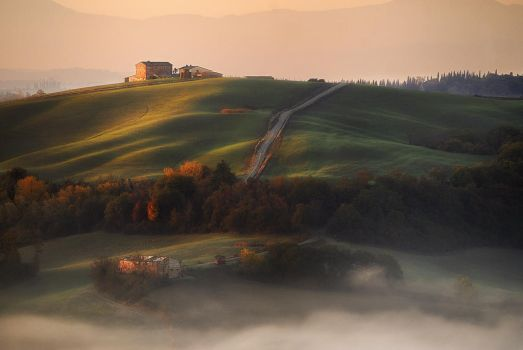 Mist and sunshine by JPawlak