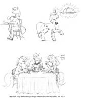 Dining in Canterlot by Baron-Engel