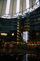 Sony Centre Lights and Sails by happienoodleboy