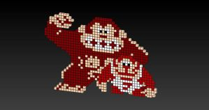 8-Bit Donkey Kong and DK Jr. by JoeCoool