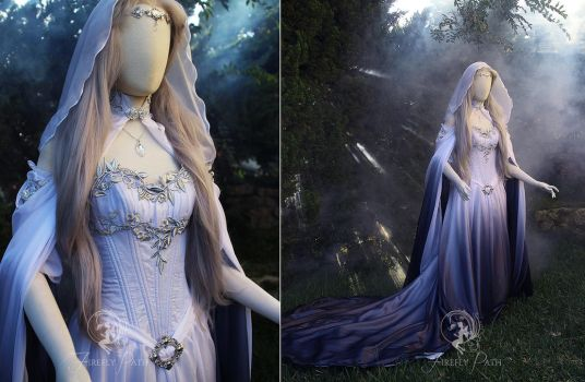 Silver Shadow Elven Gown by Firefly-Path