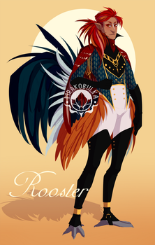 Rooster Harpy Adoptable (CLOSED) by Mrakobulka