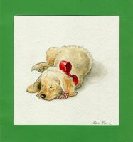 Christmas Puppy by nikkiburr