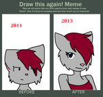 Draw this again meme by CharlotteVixen