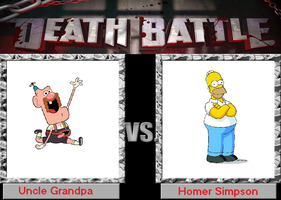 Uncle Grandpa vs Homer Simpson by R-gonz