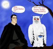 Meeting people-owls by Lucius007