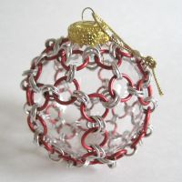 Chainmaile Wrapped Ornament by crazed-fangirl
