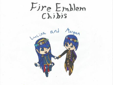 Fire Emblem Chibis - Lucina and Morgan by SenpaiTurboblaze