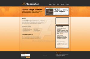 Website Layout 13thGeneration by xloganx