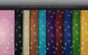10 Christmas Backgrounds by Natsum-i