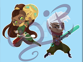 League of Legends Chibi preview 1 by Sorhken