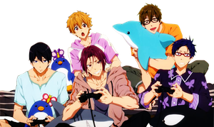 Free! Anime Render by Dhaliixa1D