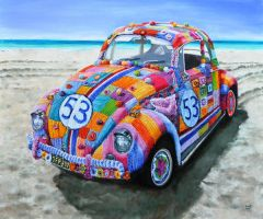 Herbie incognito (Yarnbombed VW beetle) by veracauwenberghs