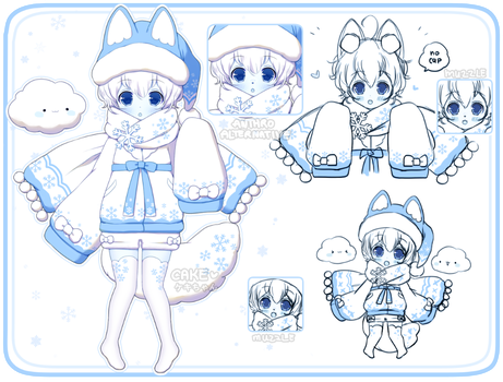 Snowflake Snowfox Adopt [OPEN][Extras Added] by Cake--Chan