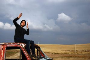 melike on the car by erdal