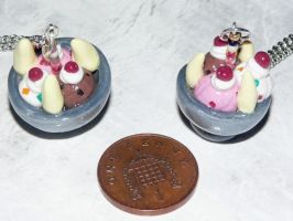 Ice-Cream Bowl Necklaces by jen-kollic