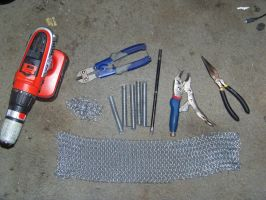 Chainmaille and tools by Freya-Arrseth