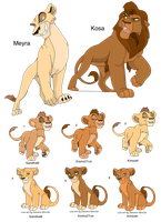 Lion Breedables: Outlander couple CLOSED by MilkaAdoptions