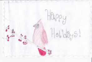 Holiday Card Project- by ringette-and-riding