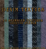 10 Denim Textures by KiwiRose-Stock