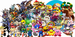 Super Smash Bros. Universe Character Wallpaper by NintendoFanDj