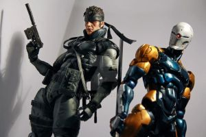 Solid Snake and Gray Fox figures 01 by Vladsnake
