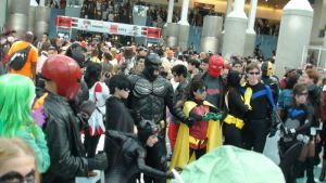 DC Superheroes and Villains at Anime Expo 2013 by trivto