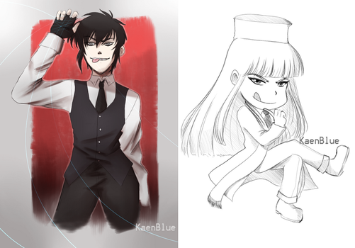 Hellsing Sketches by KaenBlue