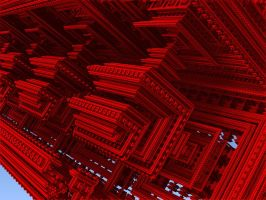 Red Robotic Mayan Temple by Daeurth