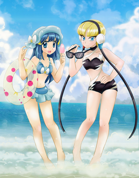 Beach Time 2 - commission by chikorita85