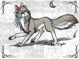 Sketchy emo-ish wolf by StephSpence