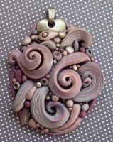 Crazy Swirls Pendant by MandarinMoon