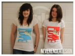 LOVE T-Shirt Blue and Red by NeverenderDesign