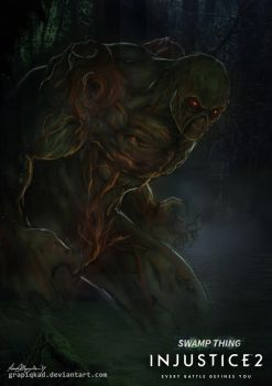 Injustice 2- Swamp Thing by Grapiqkad