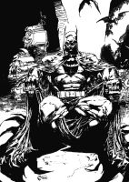 Batman black and white by Felix-Alvarez