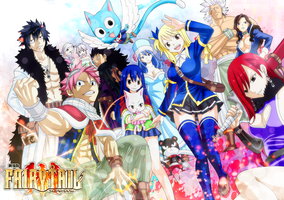 Fairy tail wallpaper by RoxyKiwi