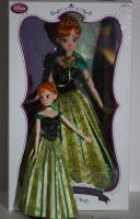 OOAK Disney Frozen Anna dolls by lulemee