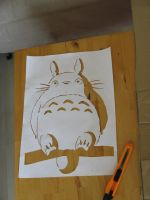 Totoro - actual stencil by moon-glaze