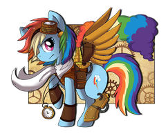 Steampunk Series: Rainbow Dash by WONDERB0LT